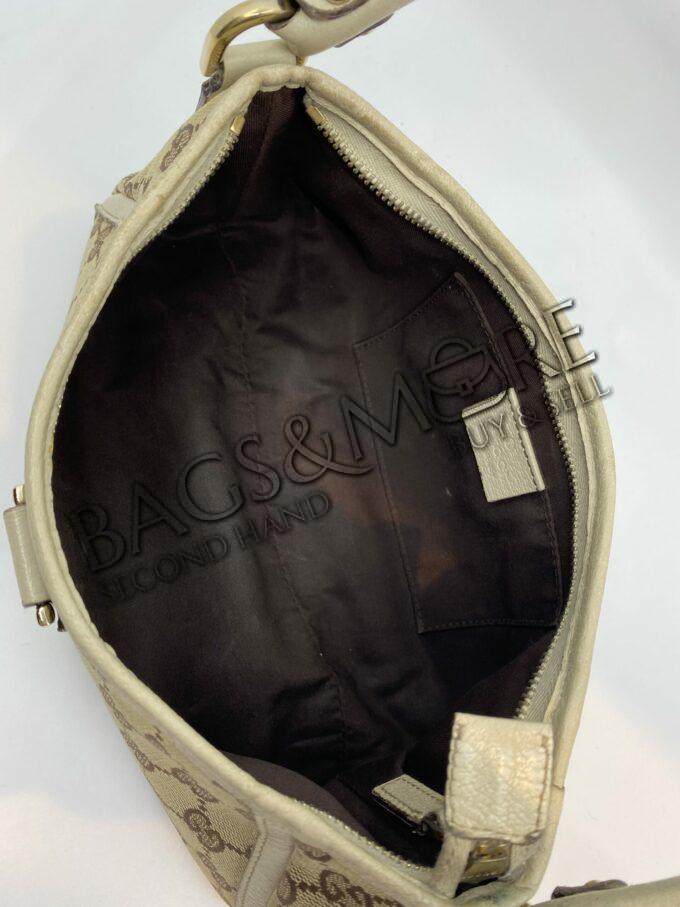 Gucci schoudertas Canvas kleur beige-bruin
