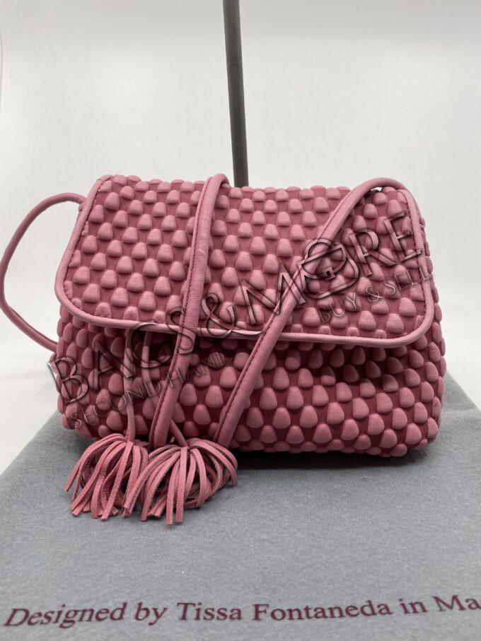 Fontaneda Tissa clutch nappa leder kleur roze