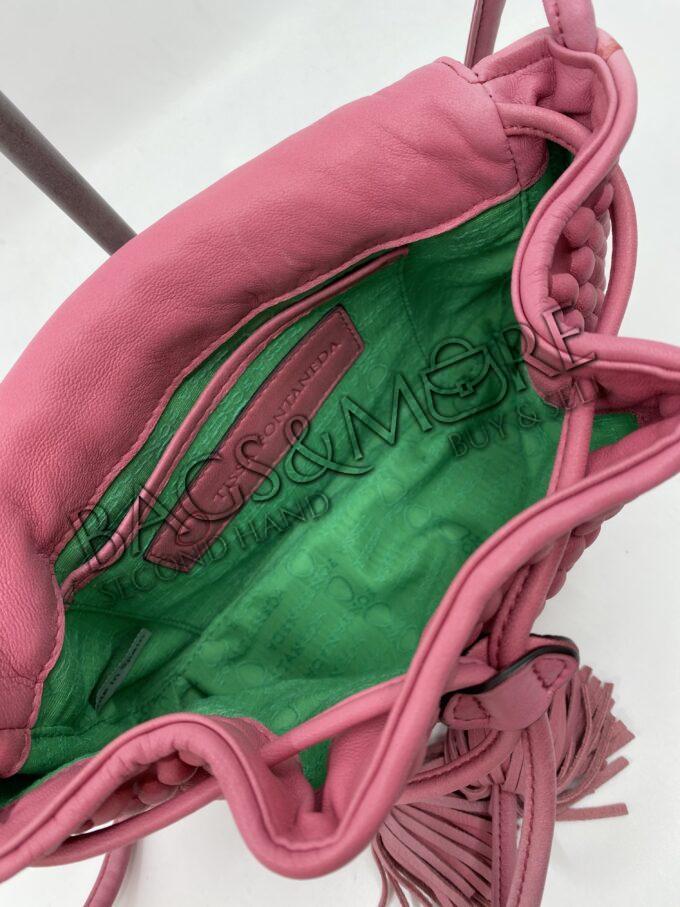 Fontaneda Tissa clutch napa leder kleur roze-fuchsia