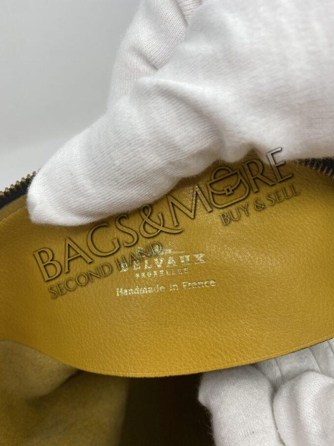 Delvaux schoudertas of Cross Body kleur Colza-oker met goudkleurige accenten