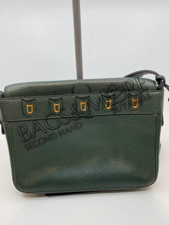 Delvaux model Primaire Cross Body kleur Liane-groen met goudkleurige D accenten