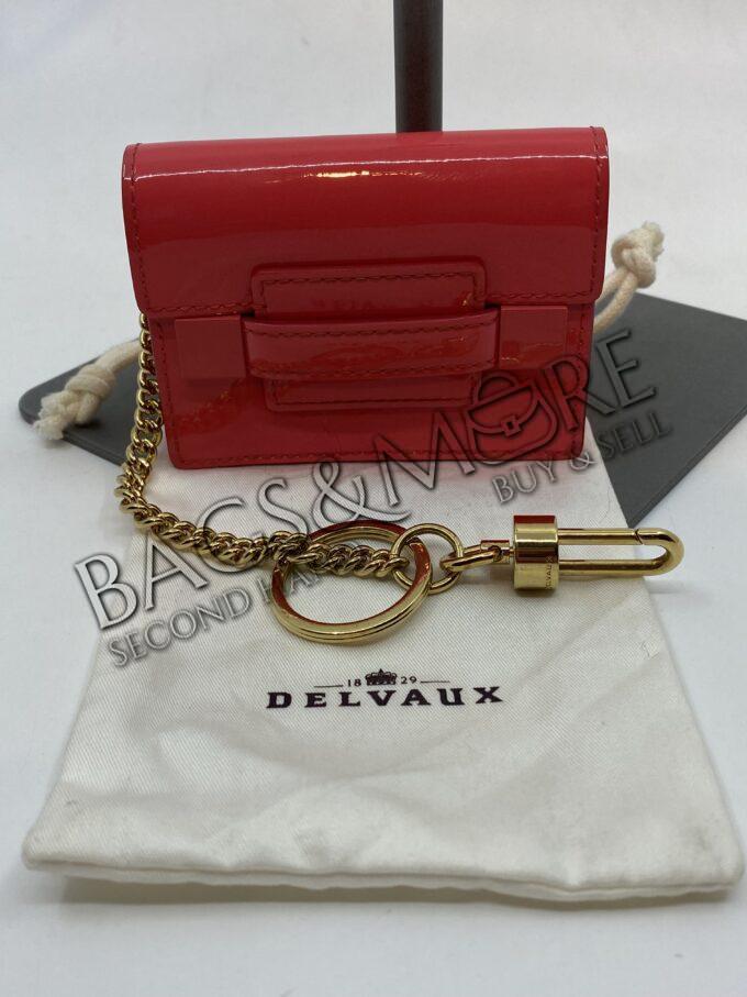 Delvaux Bag Charm of sleutelhanger kleur Brillant Chaperon rouge met goudkleurige ketting