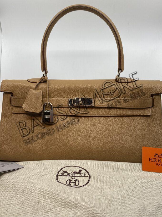 Hermès Kelly taurillon leder kleur tabas-camel handtas en of schoudertas